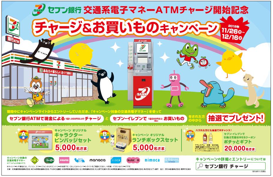 セブン銀行ATM☆チャージ&お買いものキャンペーン